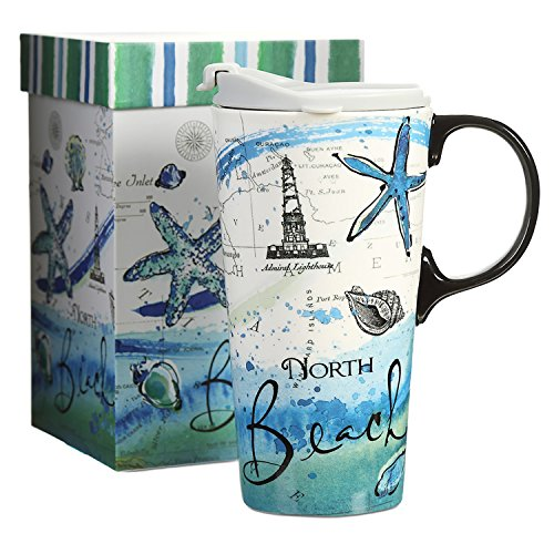Travel Coffee Ceramic Mug Porcelain Latte Tea Cup With Lid