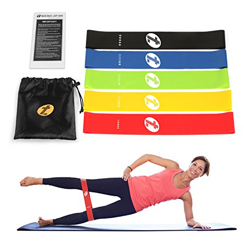 Exercise Bands With Handles Walmart: Resistance Band Set, WENFENG Workout Bands Include 5